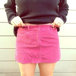 Dresses & Skirts - Pink Corduroy Skirt